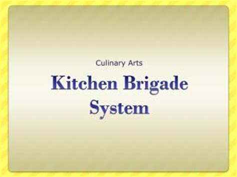 Kitchen Brigade System by Ppt Kitchen Brigade System Powerpoint Presentation Id