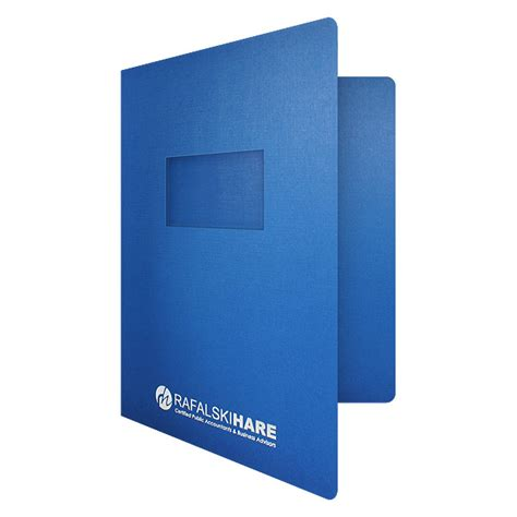 custom printed 1 2x4 window report cover - Report Covers With Window