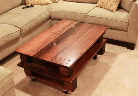 How To Make Coffee Table Diy Pallet Coffee Table Espresso And Creamespresso And