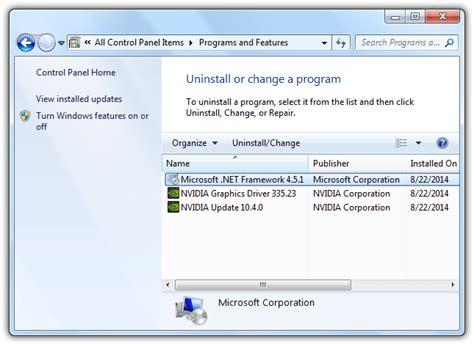 add or remove programs windows 7 why are there multiple versions of microsoft net