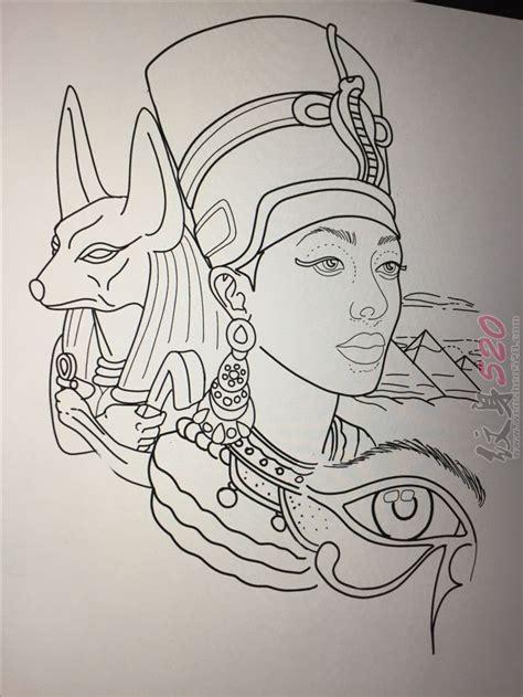 tattoo history com 多款黑色线条几何元素古埃及传统纹身手稿