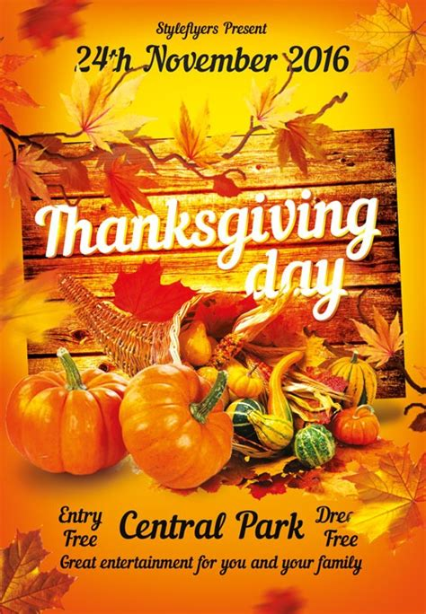 Thanksgiving Flyer Template Free Download The Thanksgiving Free Flyer Template For Photoshop