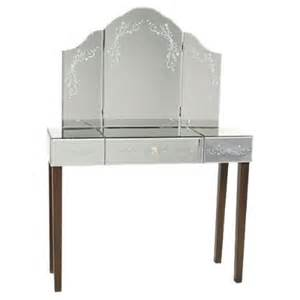 glass dressing table venetian glass shabby chic dressing table and mirror set