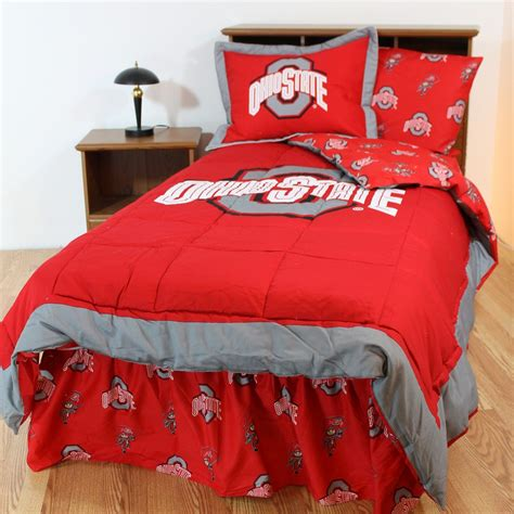 ohio state bed set ohio state buckeyes bed in a bag set interiordecorating