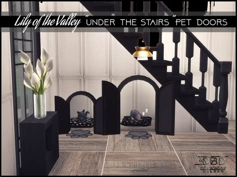 lily   valley   stairs pet doors sims