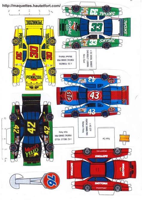 Nascar Papercraft - race cars paper models nascar maquettes en papier