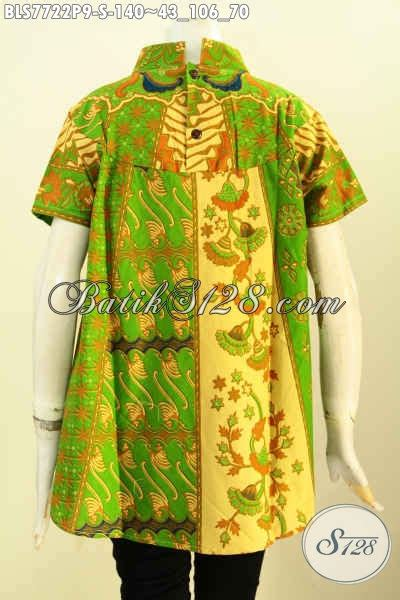 desain baju batik hijau blus batik hijau nan mewah pakaian batik modis desain