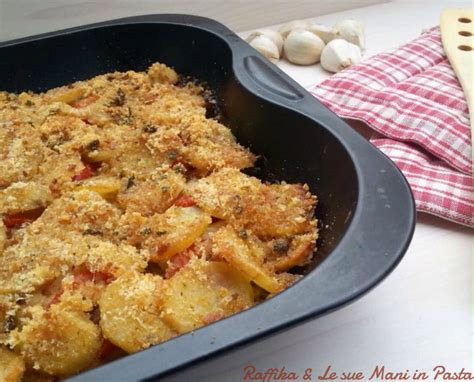 baccal 224 al forno con patate raffika le sue in pasta
