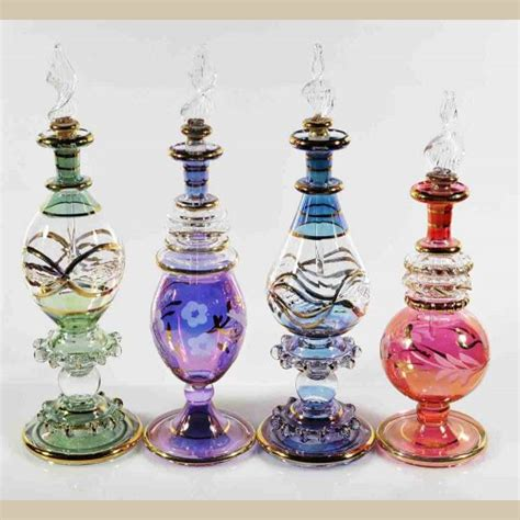 Handmade Perfume Bottles - set of 4 pieces of medium handmade perfume bottles