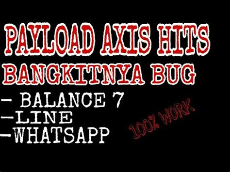 bug axsis paling wusss payload axis hitz bug line wa 100 konek youtube