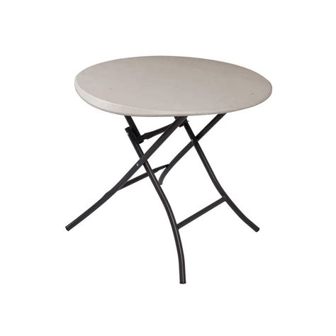 lifetime tables home depot lifetime 33 in round putty folding table 80230 the home