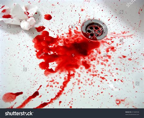 Blood Real In by Real Blood Addict Sink On Stock Photo 31340530