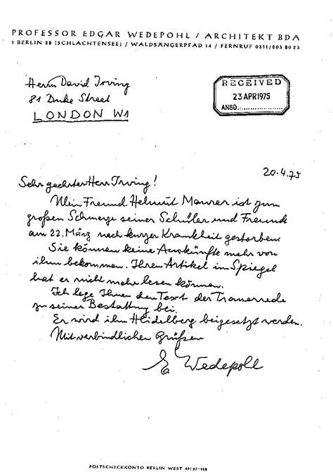 Introduction Letter German Real History And Admiral Wilhelm Canaris