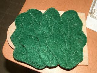 felt lettuce pattern pieces by polly let us eat lettuce romaine lettuce