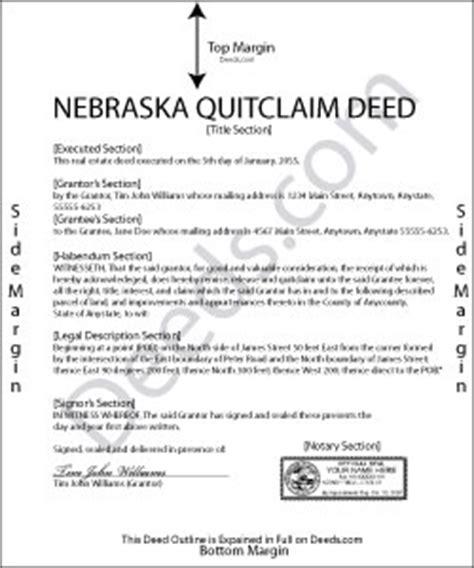 lincoln county deeds nebraska quit claim deed forms deeds