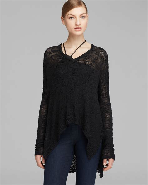 sheer knit sweater helmut lang sweater sheer knit in black lyst