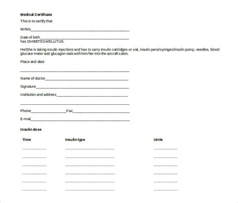 Doctor Certificate Template   22  Free Word, PDF Documents