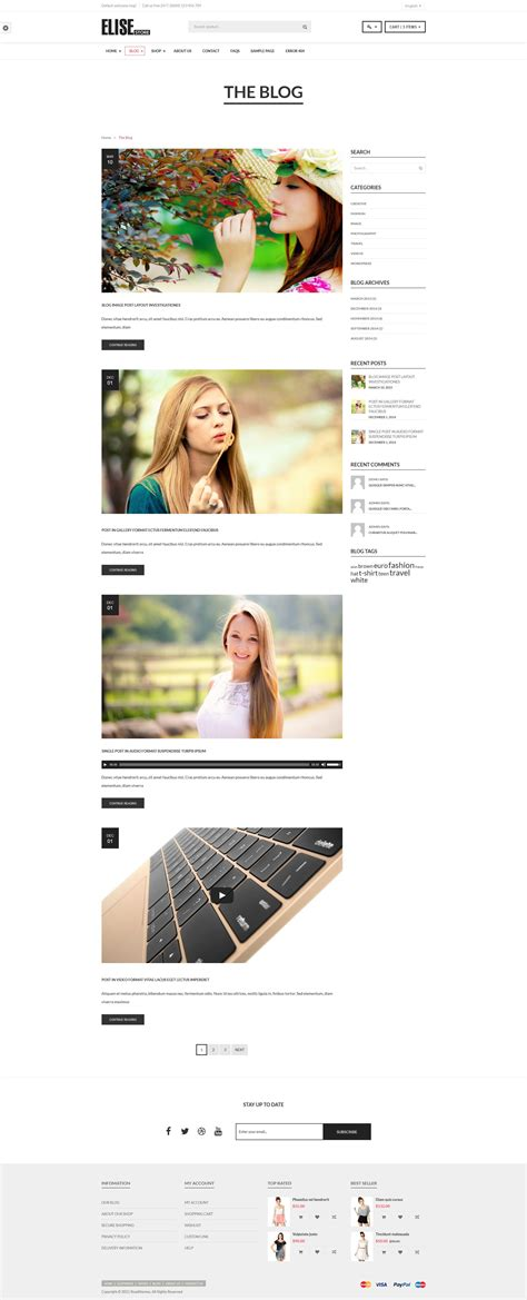 tumblr themes elise elise fashion woocommerce wordpress theme by roadthemes