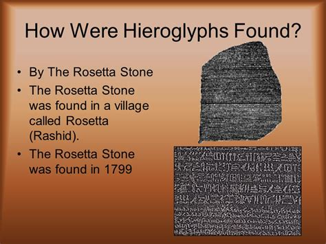 rosetta stone who found it hieroglyphics ppt video online download