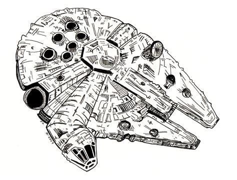 millennium star millenium falcon coloring pages www pixshark com