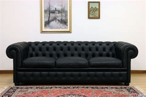 Amazing Black Reclining Leather Sofa #3: Chester_3_seater_sofa_black.jpg