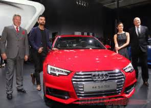 Used Cars In Delhi Audi A4 Virat Kohli Attends Audi A4 India Debut 2016 Auto Expo