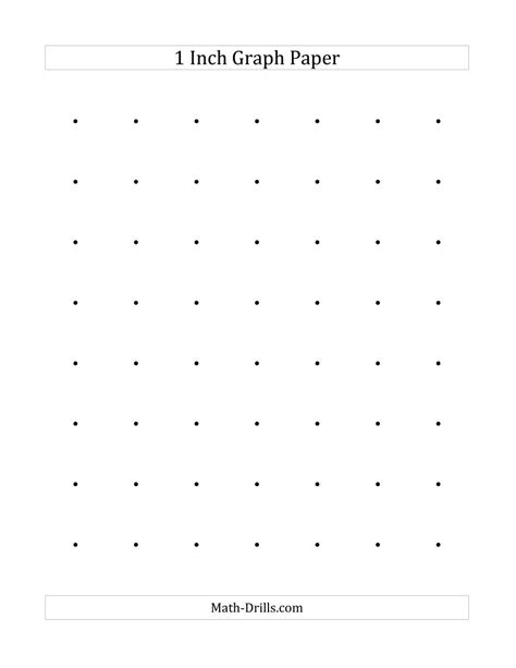 printable graph paper math drills 1 inch dot paper a