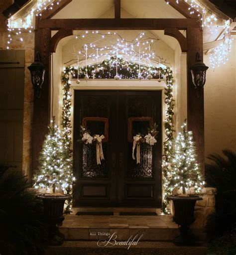 How To Hang Garland Around Front Door 17 Best Images About Lights Parade On Exterior Lights