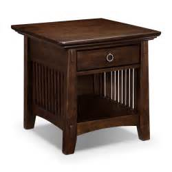 arts crafts dark occasional tables end table value