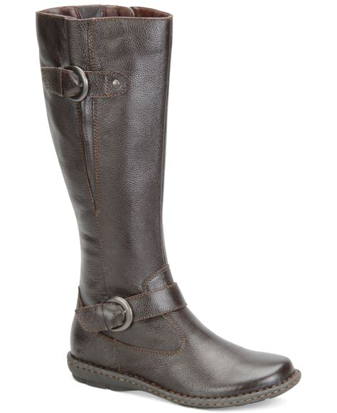 macys womans boots b 248 c leather wide calf boots only at macy s in