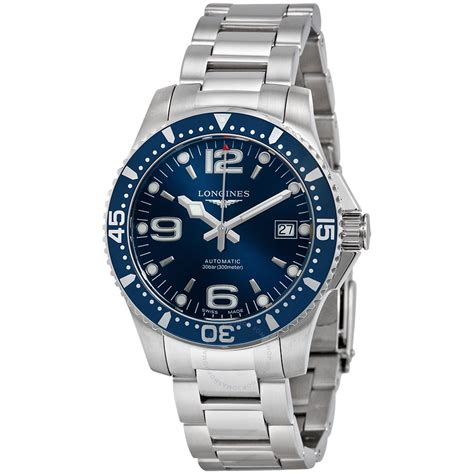 longines hydroconquest automatic blue stainless steel
