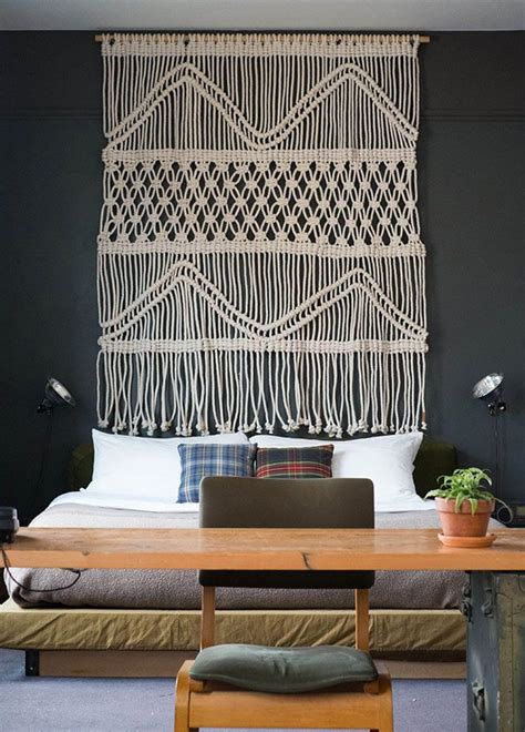 macrame headboard macram 233 headboard dream house pinterest
