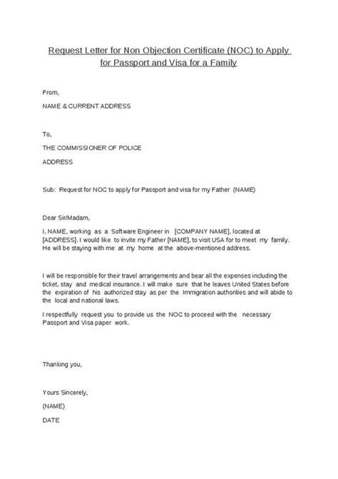 authorization letter format for bank noc noc certificate format cenomar july sle authorization