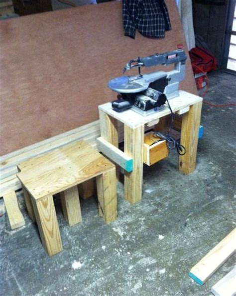 scroll saw bench plans scroll saw stand with stool by nate22 lumberjocks com