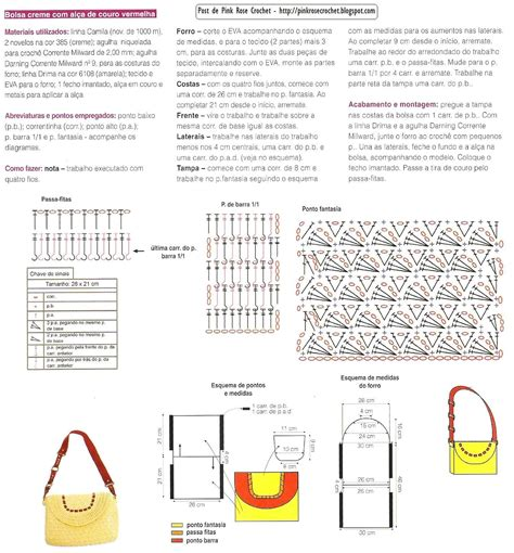 crochet pattern bag diagram free crochet purse pattern diagram translate bolsos
