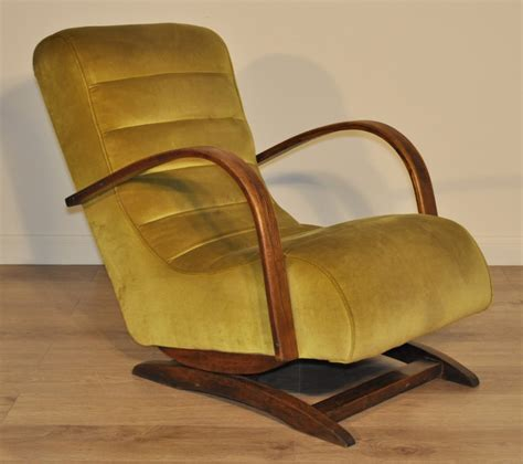 attractive large deco upholstered rocking chair easy