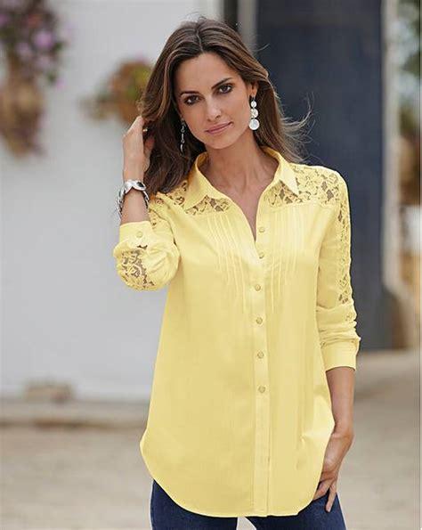 together lace trim blouse jacamo