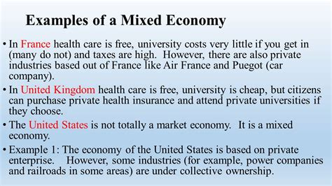 exle of market economy economic systems and decision ppt
