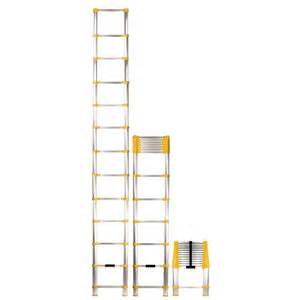 collapsible ladder home depot xtend climb 12 5 ft telescoping aluminum extension