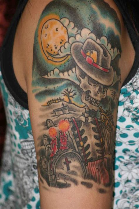 skull graveyard tattoo designs graveyard tattoos designs ideas and meaning tattoos for you