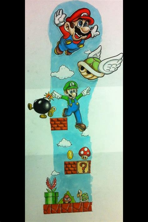 mario tattoo designs mario sleeve design cas