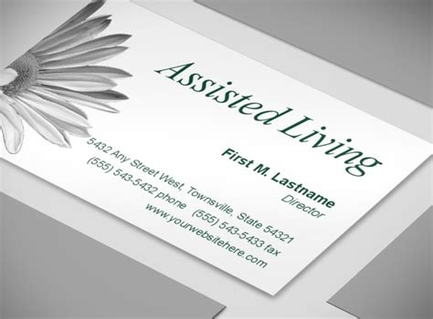Free Living Business Card Templates by Senoirs Assisted Living Residence Facility Business Card