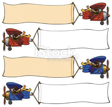 airplane pulling banner royalty free stock vector