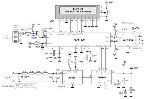 digital rf wattmeter measuringandtestcircuit