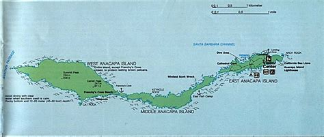 channel islands california map anacapa island detail map channel islands national park