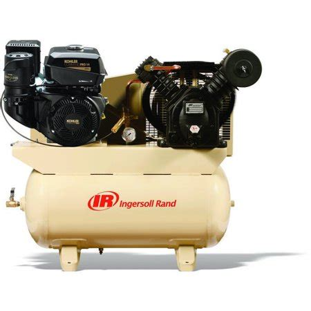 ingersoll rand 2475f14g two stage gas powered air compressor kohler engine 14hp walmart