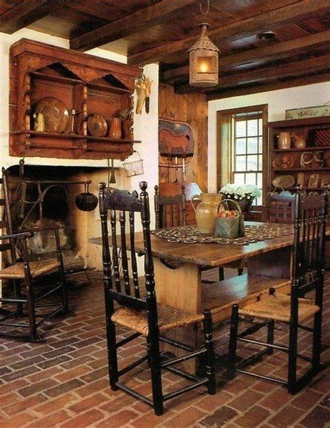 beautiful rustic kitchens on pinterest rustic dining room tables country kitchen designs and farmhouse interior colonial style dining room inside