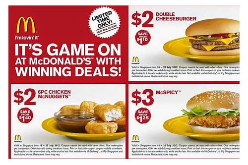 mcdonalds coupon code march 2018