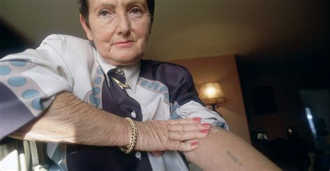 holocaust tattoo auschwitz survivor showing identification