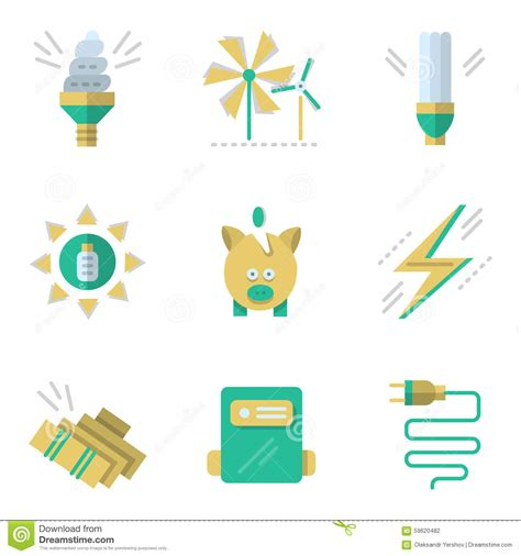energy saving house energy saving house flat vector cartoondealer